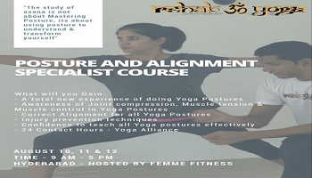 Rehab Yoga: Posture and Alignment Specialist Course (Hyderabad, India)