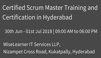 Scrum Master Training and Certification in Hyderabad with the best experienced trainers