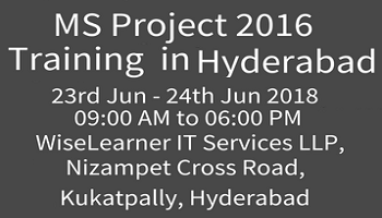 MS PROJECT 2016 Training with the best trainers in Hyderabad