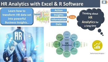 HR Analytics using MS-Excel and other tool packs like R, Tableau.