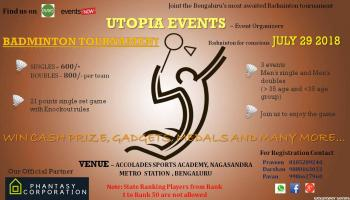 Utopia Badminton tournament