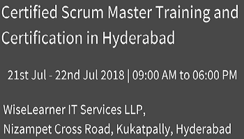 Scrum Master Training and Certification in Hyderabad with the best experienced tutors