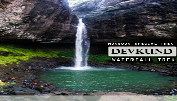 Devkund Waterfall Trek in Aug by Plus Valley Adventure