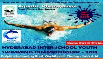 HYDERABAD INTER-SCHOOL YOUTH SWIMMING CHAMPIONSHIP 29th JULY 2018