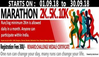 2K Marathon Challenge 01.09.18 to 30.09.18