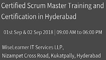 Scrum Master Training and Certification in Hyderabad with the highly experienced best trainers
