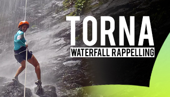 Torna Waterfall Rappelling by Plus valley Adventure