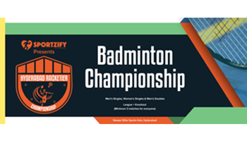 Hyderabd Racketier Badminton Championship -1st Edition