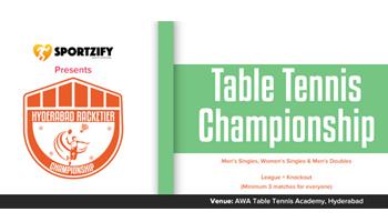 Hyderabad Racketier Table Tennis Championship - 1st Edition