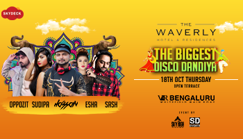 Bangalores biggest and luxurious DISCO Dandiya At skyDeck Waverley VR Mall