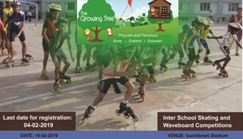 skating and waveboard competition for inter school by The Growing Tree