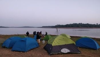 sharavathi backwater trek,camping and waterfalls
