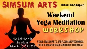 Stress relief Yoga Meditation Weekend workshop at Simsum Arts