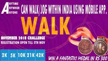 2K/5K/10K/21K/42K WALK November Challenge 2018 copy