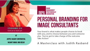 Judith Rasband Masterclass Personal Branding for Image Consultants in Delhi