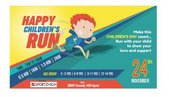 Happy Children s Run at BBMP Grounds HSR Layout With Sportz High