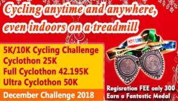 5K/10K/25K/42K/50K Cycling DECEMBER CHALLENGE 2018