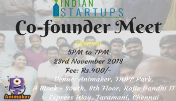 Co-Founder Meet - November 2018 Edition - Chennai