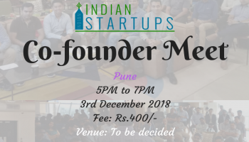 Co-Founder Meet - December 2018 Edition - Pune