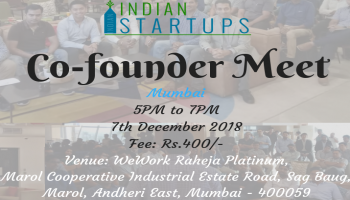 Co-Founder Meet - December 2018 Edition - Mumbai