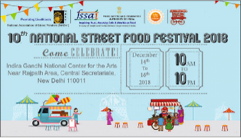 10th National Street Food Festival 14th to 16th December 2018