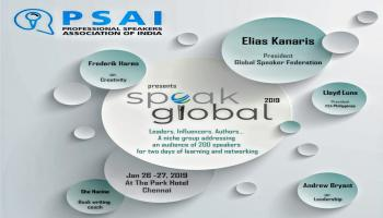 SPEAK GLOBAL - PROFESSIONAL SPEAKERS SUMMIT ( Professional Speakers Association of India)