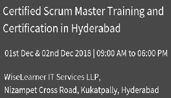 Best Scrum Master Training and Certification in Hyderabad with experienced tutor