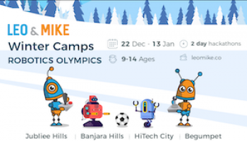 Robotics Olympics for ages 9-14  @Nritya, Banjara Hills