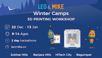 3d Printing Workshop for ages 9-14  @ Jxtapose, Jubliee Hills