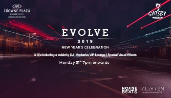 EVOLVE 2019 - NYE Party @ Gatsby, Crowne Plaza Chennai Adyar Park