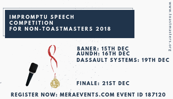 Impromptu Speech Competition 2018 For Non- Toastmasters