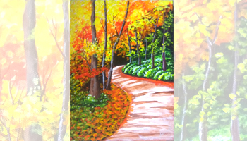 Forest Trails Canvas Painting