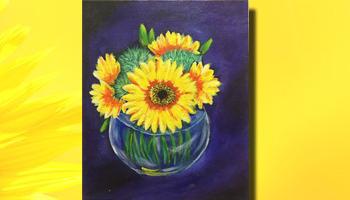 Sunflower Bloom Canvas Painting Workshop