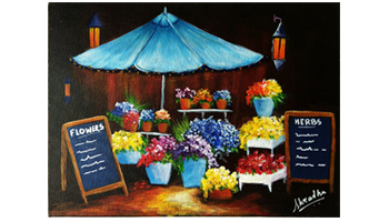 Acrylic Painting French Flower Market