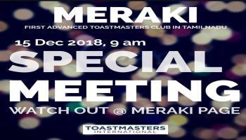 Meraki 39 Special Meeting