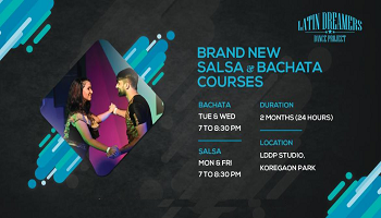 Salsa and Bachata Courses - December