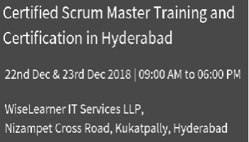 Best Scrum Master Training and Certification in Hyderabad with experienced tutors