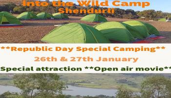 Into the Wild - Republic Day Camping@ Shendurli with open air theatre
