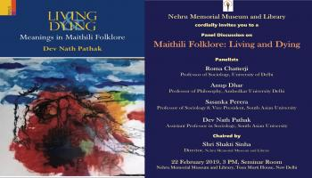 Panel Discussion on Maithili Folklore: Living and Dying