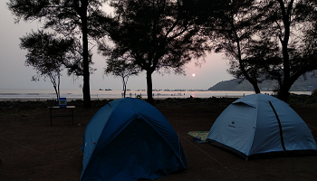 Beachside camping at Shrivardhan on 23rd 24th February 2019