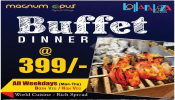 Dinner Buffet at 399 /- at Magnum Opus  / Pimple Saudagar