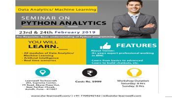 Seminar On Python Analytics (Data Analytics/ Machine Learning)
