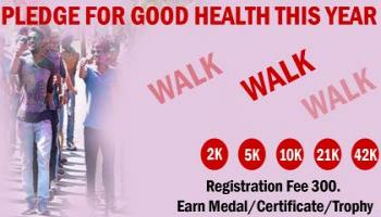 2K/5K/10K/21K/42K Walk March Challenge 2019 by INDIA RUNNER