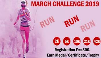 2K/5K/10K/21K/42K Run March Challenge 2019 by INDIA RUNNER
