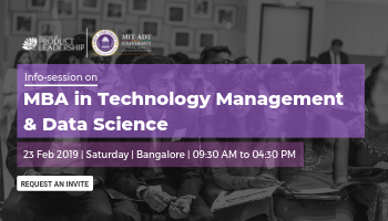 Info Session on MBA in Technology Management and Data Science