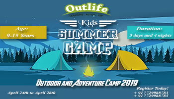 Outdoor and Adventure Summer Camp 2019 - Hyderabad - Outlife