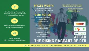 AFTAB: THE RISING PAGEANT OF DTU