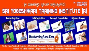 2019 Summer Camp in Handwriting, Calligraphy, Speed Writing, Memory, Concentration Classes for Kids in Bangalore