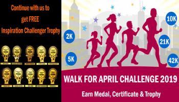 2K/5K/10K/21K/42K WALK N APRIL CHALLENGE 2019