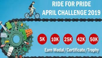 5K/10K/25K/42K/50K CYCLING APRIL CHALLENGE 2019